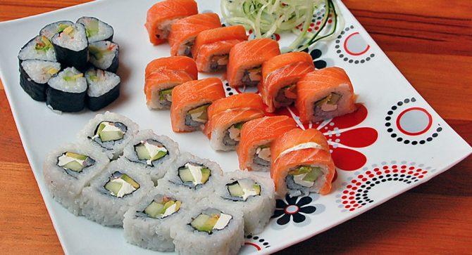 Sushi Pick Three Rolls