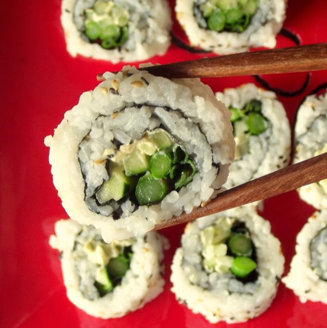 Asparagus Avocado Cheese Roll