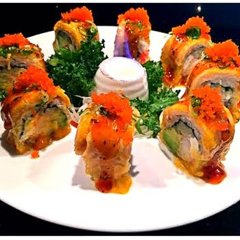 Flaming Salmon Roll