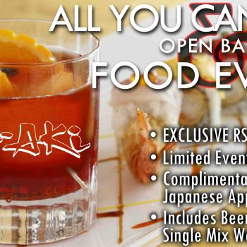 All You Can Drink Open Bar Event