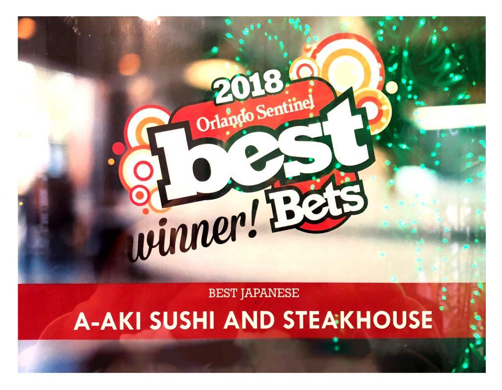 Orlando Sentinel Best Japanese Restaurant 2018